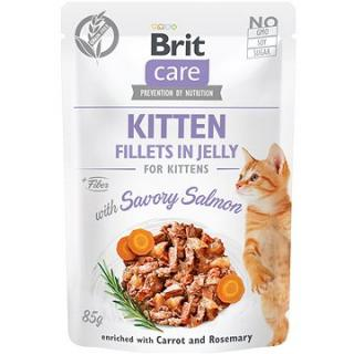 Brit Care Cat Kitten Fillets in Jelly with Savory Salmon 85 g