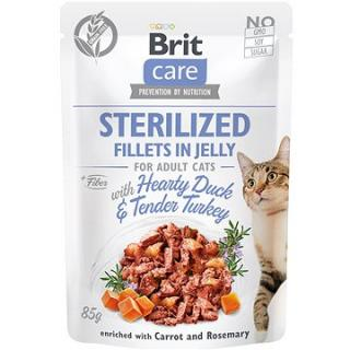 Brit Care Cat Sterilized Fillets in Jelly with Hearty Duck & Tender Turkey 85 g
