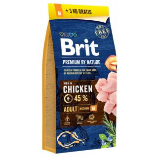 Brit Premium by Nature Adult M 15 3 kg ZDARMA