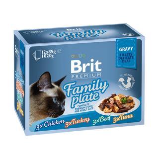 Brit premium cat delicate fillets in gravy family plate 1020g