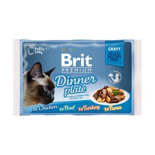 Brit premium cat delicate fillets ve šťávě dinner plate 340g