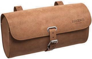 Brooks Challenge 1,2L Saddle Bag Dark Tan Brown
