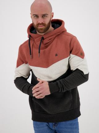 Brownish-grey mens hoodie Alife and Kickin pánské šedá S