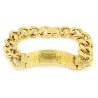 BRUNOshop.cz S2613 Masivní náramek GOLD 22 cm