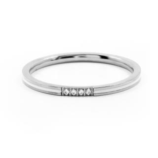 BRUNOshop.cz S3899 Jemný prsten s kamínky WHITE Velikost: 10