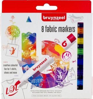 Bruynzeel Fabric Markers 8 Set Multi