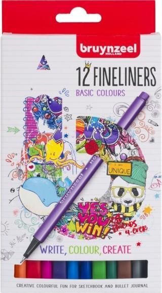 Bruynzeel Fineliner 12 Set Multi