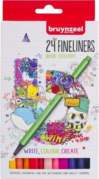 Bruynzeel Fineliner 24 Set Multi