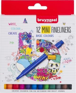 Bruynzeel Fineliner Mini 12 Set Multi