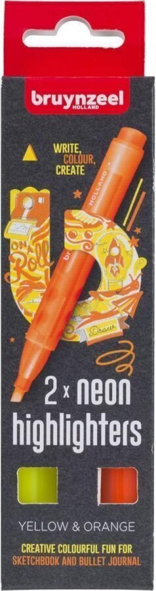 Bruynzeel Highlighter Yellow&Orange