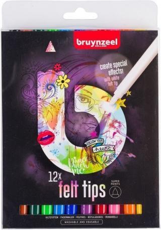 Bruynzeel Super Points Felt Tips Light 12 Set Multi