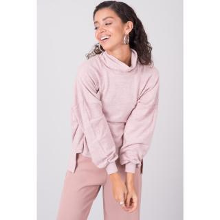 BSL Powder pink oversize sweatshirt dámské Neurčeno M
