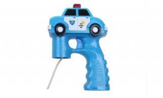 Bublifuková pistole policejní auto