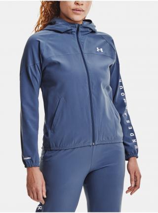 Bunda Under Armour Woven Hooded Jacket - modrá dámské S