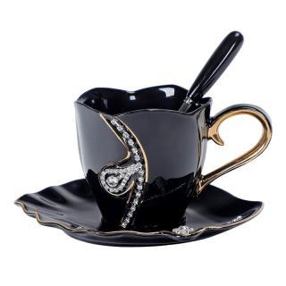 Čajová sada s krystaly 3 ks Barva: černá