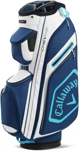 Callaway Chev 14  Cart Bag White/Navy/Light Blue 2020
