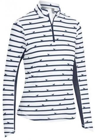 Callaway Parasol Print Sun Protection Womens Sweater Peacoat M dámské White M