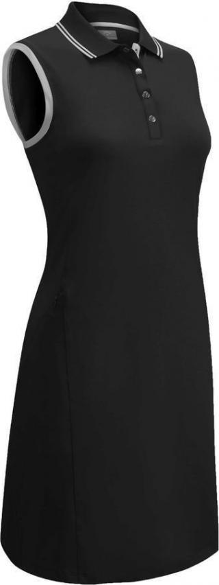 Callaway Ribbed Tipping Womens Polo Dress Caviar S dámské Black S
