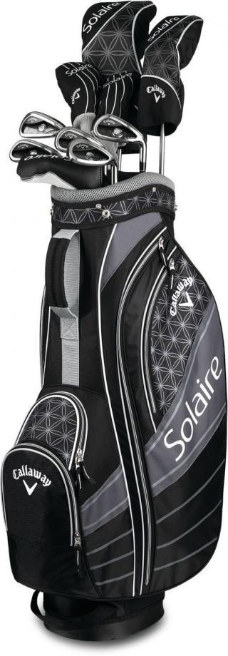 Callaway Solaire 18 Black 11-piece dámský kompletní golfový set pravý dámské