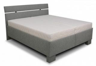 čalouněná postel antares 180x200, vč. matrace, poloh. roštu a úp šedá