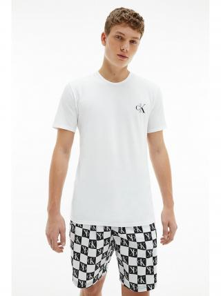 Calvin Klein bílo-černé pánské pyžamo S/S Short Set pánské bílá S
