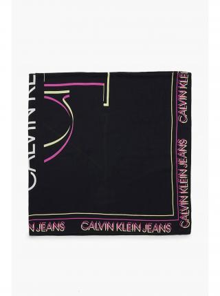 Calvin Klein černý šátek Glow Scarf dámské černá