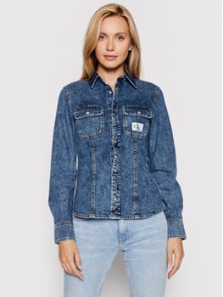Calvin Klein Jeans džínová košile J20J216145 Modrá Slim Fit dámské S