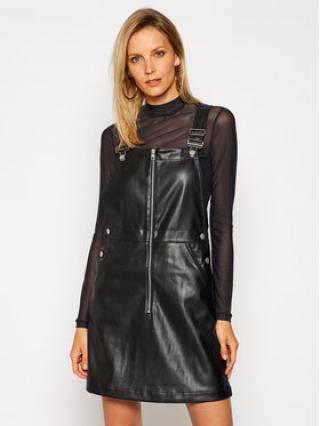 Calvin Klein Jeans Kožené šaty Dungaree J20J215033 Černá Regular Fit dámské XS