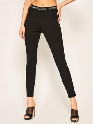 Calvin Klein Jeans Legíny Milano Jersey J20J213519 Černá Slim Fit dámské M