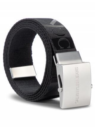 Calvin Klein Jeans Pánský pásek J Plaque Canvas Belt 4 Cm K50K505333 Černá pánské 85