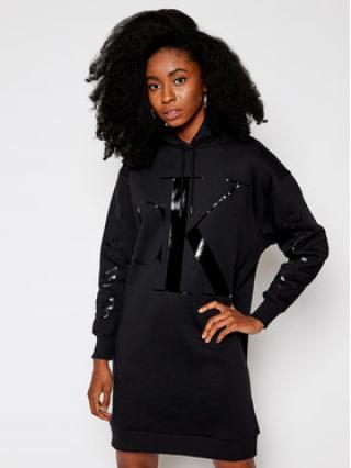 Calvin Klein Jeans Úpletové šaty Eco Logo J20J214926 Černá Oversize dámské XS