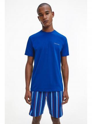 Calvin Klein modré pánské pyžamo S/S Short Set pánské modrá S
