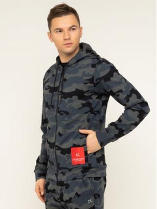 Calvin Klein Performance Mikina Full Zip Hooded Jacket 00GMH9J456 Šedá Regular Fit pánské S