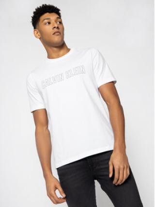Calvin Klein Performance T-Shirt Logo Print 00GMS0K299 Bílá Regular Fit pánské XL