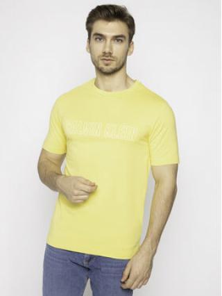 Calvin Klein Performance T-Shirt Logo Print 00GMS0K299 Žlutá Regular Fit pánské L