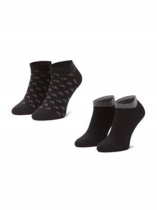 Calvin Klein Sada 2 párů pánských nízkých ponožek 100001762 Černá 43_46