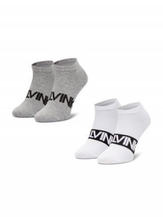 Calvin Klein Sada 2 párů pánských nízkých ponožek 100001857 Šedá 39_42