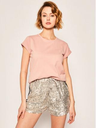 Calvin Klein T-Shirt Turn Up Ss Top K20K201982 Růžová Regular Fit dámské M