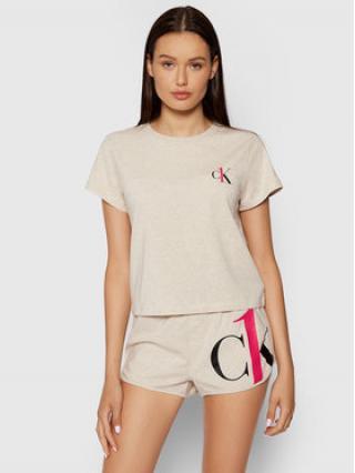 Calvin Klein Underwear Pyžamo 000QS6443E Béžová dámské XS