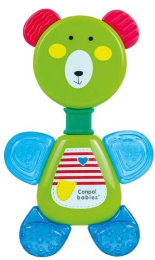 CANPOL BABIES Chladící kousátko s chrastítkem medvídek - zelená