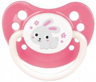 CANPOL BABIES Dudlík kaučukový anatomický 18m  Bunny & Company – růžový růžová