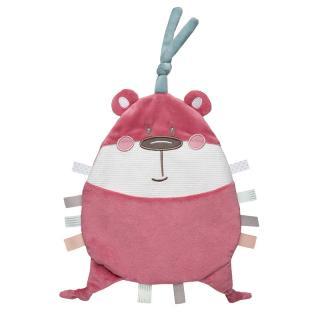 CANPOL BABIES Plyšový mazlíček Pastel Friends růžový medvídek růžová
