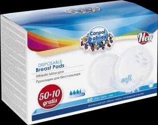 CANPOL BABIES Tampóny do podprsenky anti-slip 50   10 ks bílá