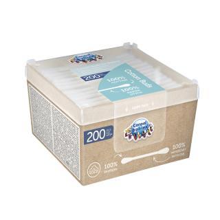 CANPOL BABIES Tyčinky vatové papírové 200 ks bílá