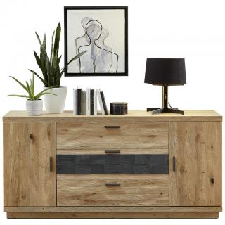Cantus SIDEBOARD, divoký dub, barvy dubu, tmavě šedá, 180/85/45 cm - barvy dubu, tmavě šedá 180/85/45