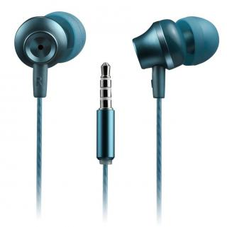 CANYON Stereo sluchátka s mikrofonem kovová blue/green