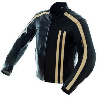 Cappa Racing STRIPES kožená černá/béžová
