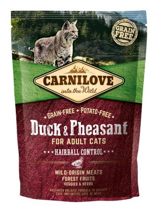 Carnilove Cat Grain Free Duck&Pheasant Adult Hairball Control 400g