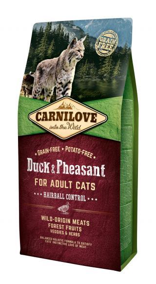 Carnilove Cat Grain Free Duck&Pheasant Adult Hairball Control 6kg