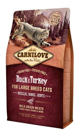 Carnilove Cat Grain Free Duck&Turkey LB Cat Muscles, Bones, Joints 2kg